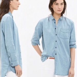 Madewell Oversize Button Down Shirt in Chambray